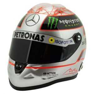 Casco di platino Michael Schumacher Spa 300 GP 2012 1/2