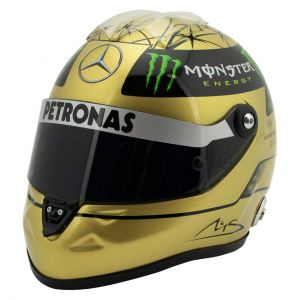 Michael Schumacher Casco Dorado Spa 2011 1/2