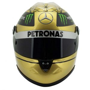 Casco d'oro Michael Schumacher Spa 2011 1/2