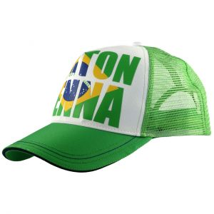 Ayrton Senna Cap Brazil grün