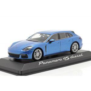 Porsche Panamera 4S Diesel bleu métallisé 1/43