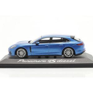 Porsche Panamera 4S Diesel blau metallic 1:43