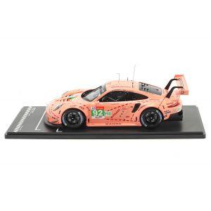 Porsche 911 RSR #92 Vainqueur de la classe LMGTE Pink Pig 24h Le Mans 2018 1/18