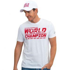 Michael Schumacher T-Shirt Champion du Monde blanc