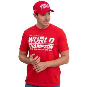 Michael Schumacher T-Shirt Champion du Monde rouge