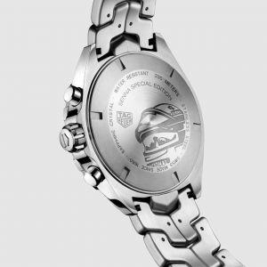Ayrton Senna Quarz-Chronograph Edelstahl grau
