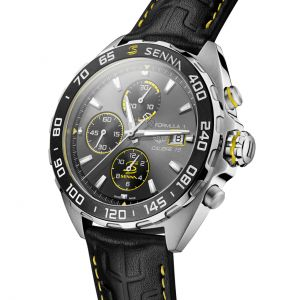 Ayrton Senna Automatic Chronograph Stainless Steel / Leather
