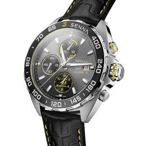 Ayrton Senna Chronographe automatique Acier inoxydable / Cuir