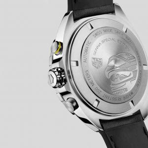 Ayrton Senna Cronografo automatico in acciaio inossidabile / pelle