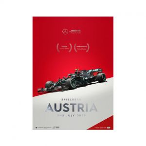 Poster Mercedes-AMG Petronas F1 Team - Österreich GP 2020 - Valtteri Bottas