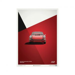 Cartel Porsche 911 RS - Rojo