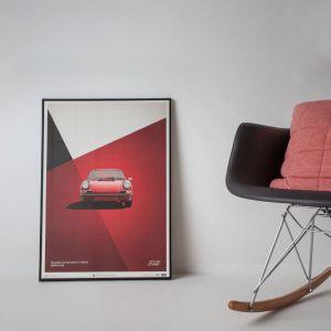 Poster Porsche 911 RS - Rot
