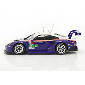 Porsche 911 RSR #91 2do. de la clase LMGTE Pro 24h Le Mans 2018 1/18