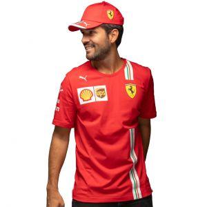 Scuderia Ferrari Herren Leclerc T-Shirt rot