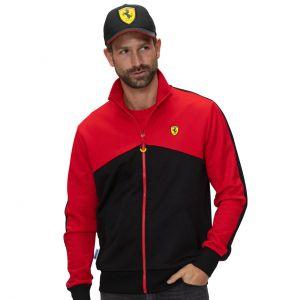 Scuderia Ferrari Giacca di felpa nera / rossa