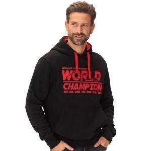 Felpa con cappuccio Michael Schumache Campione del mondo nera