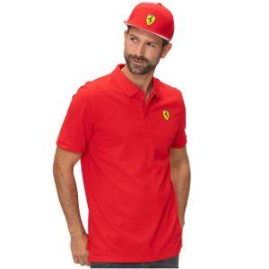 Scuderia Ferrari Classic Poloshirt rouge