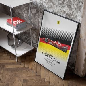 Poster Michael Schumacher - Ferrari F2002 - German GP 2002