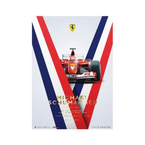 Affiche Michael Schumacher - Ferrari F2002 - France GP 2002