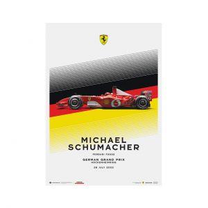 Poster Michael Schumacher - Ferrari F2002 - Deutschland GP 2002