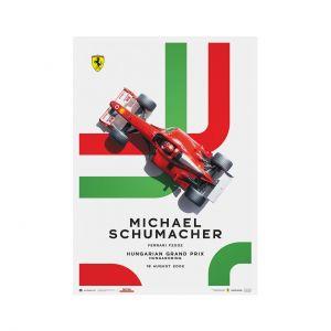 Poster Michael Schumacher - Ferrari F2002 - GP Ungheria 2002