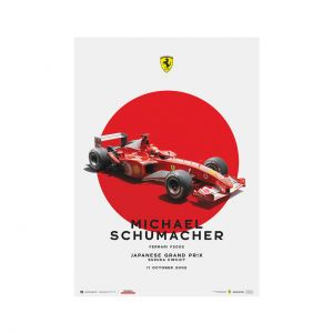 Poster Michael Schumacher - Ferrari F2002 - Japan GP 2002