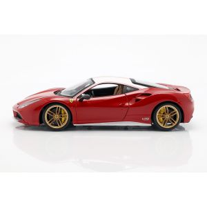Ferrari 488 GTB The Lauda 70th Anniversary Collection rouge / blanc  1/18