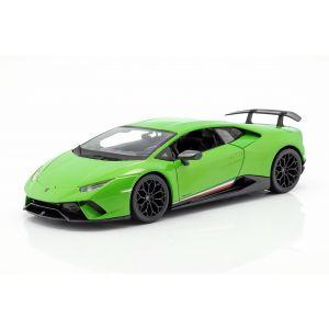Lamborghini Huracan Performante Año de fabricación 2017 verde metálico 1/18
