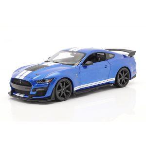 Ford Mustang Shelby Año de fabricación 2020 azul 1/18