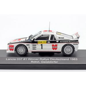 Lancia 037 #1 Sieger Rallye Deutschland 1983 Röhrl, Geistdörfer 1:43