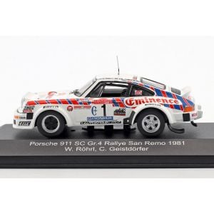 Porsche 911 SC Gr.4 #1 Rallye Sanremo 1981 Röhrl, Geistdörfer 1:43