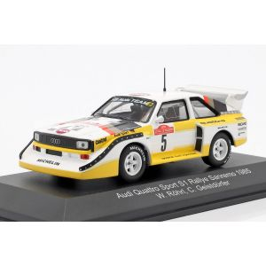 Audi Sport Quattro S1 #5 Sieger Rallye Sanremo 1985 Röhrl, Geistdörfer 1:43