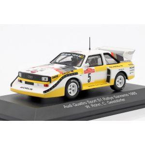 Audi Sport Quattro S1 #5 Vainqueur Rallye Sanremo 1985 Röhrl, Geistdörfer 1:43
