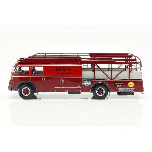 Fiat 642 RN2 Bartoletti Ferrari Racing transporter rouge foncé 1/18