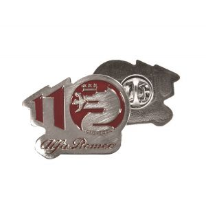 Alfa Romeo Lifestyle 110 Pin Anniversary red