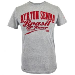 Ayrton Senna T-Shirt GP Racer grey