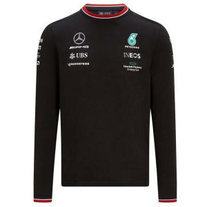 Mercedes-AMG Petronas driver long sleeve t-shirt 2021 black