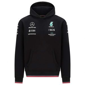 Mercedes-AMG Petronas Team Hooded Sweatshirt 2021 black