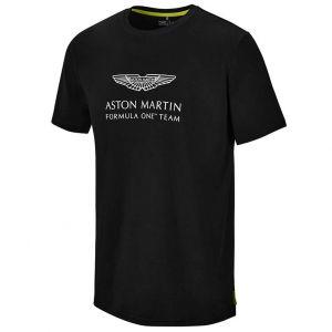 Aston Martin F1 Official Lifestyle Logo Maglietta nero