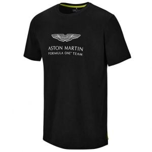 Aston Martin F1 Official Lifestyle Logo T-shirt noir