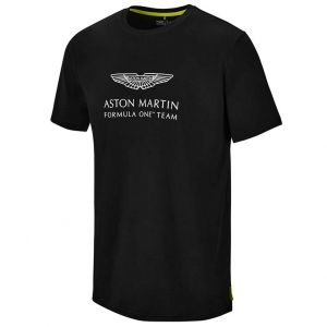 Aston Martin F1 Official Lifestyle Logo T-Shirt schwarz