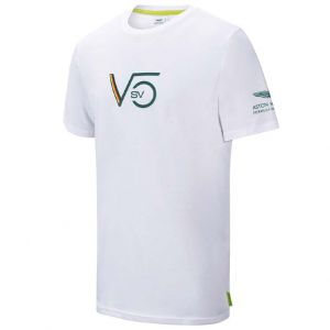 Aston Martin F1 Official Sebastian Vettel Camiseta blanco