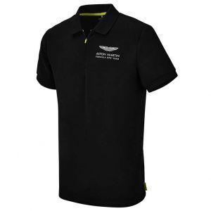 Aston Martin F1 Official Lifestyle Polo noir