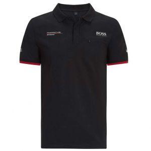 Porsche Motorsport Polo de equipo negro