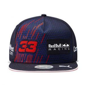 Red Bull Racing Pilote Casquette Verstappen Flat Brim 2021 bleu marine
