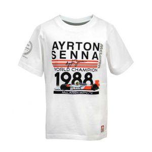 Ayrton Senna Enfants T-Shirt Champion du Monde 1988 McLaren