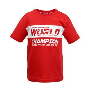 Michael Schumacher T-Shirt Enfant Champion du Monde rouge