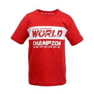 Michael Schumacher T-Shirt Enfant Champion du Monde rouge