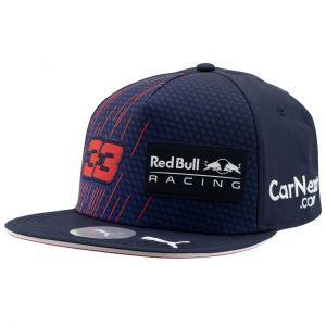 Red Bull Racing Cappellino Pilota Verstappen con visiera piatta 2021 blu marino