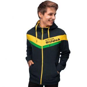 Ayrton Senna felpa con cappuccio Racing